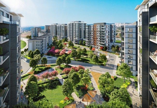 Современная Недвижимость в Башакшехире с Видом на Город