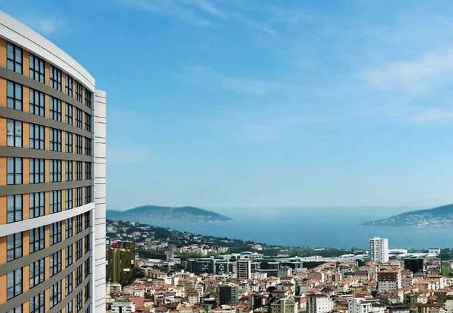 Квартиры с Видом на Город Рядом с Метро в Малтепе, Стамбул