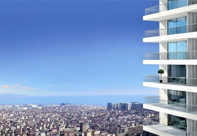 Properties in a Complex with Panoramic Pools in Kadikoy