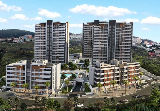Zeitgenössische Istanbuler Wohnungen Geeignet Für Staatsbürgerschaften