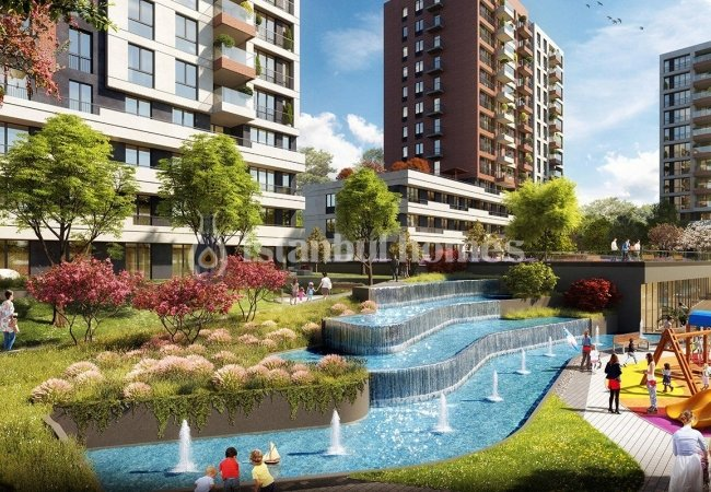 Роскошные Квартиры с Современным Ландшафтным Дизайном в Авджыларе
