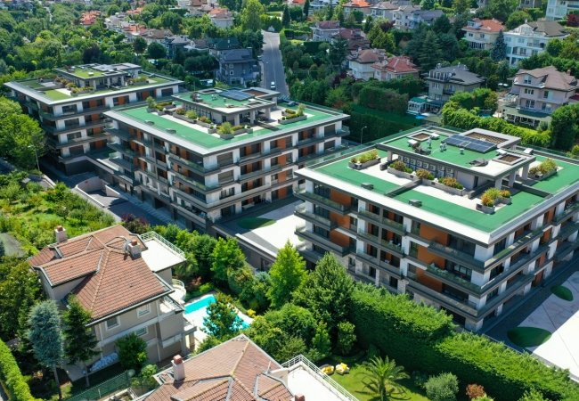 Low-rise Flats for Sale in Prestigious Complex in Beykoz Istanbul