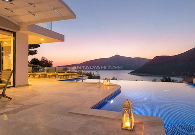 Sea View Spectacular Holiday House with Infinity Pool in Kalkan Turkey
