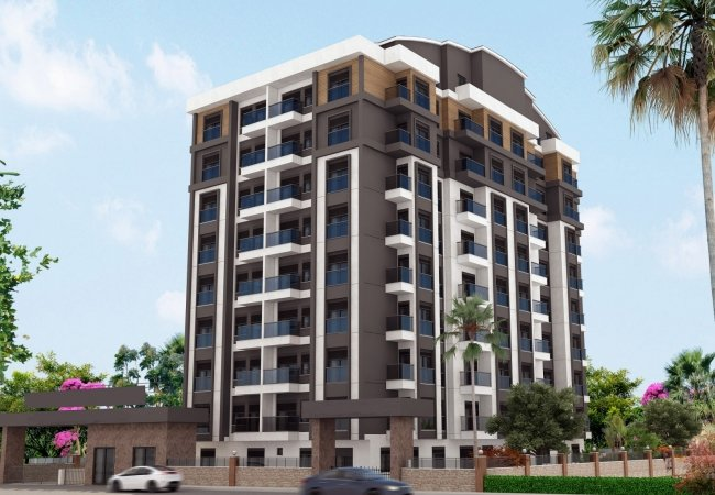 Flats for Sale in Antalya in a Qualitative Residential Complex
