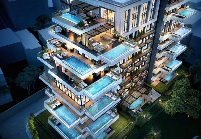 Luxury Real Estate in Istanbul Turkey with Infinity Pool