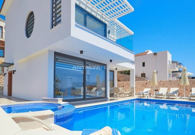 Impressive Furnished Villa with Sea View for Sale in Kalkan
