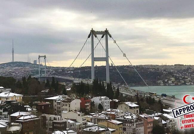 4+1 Apartments Close to Ortakoy Coastline in Besiktas Istanbul
