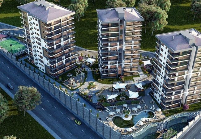 New Apartments with Great Sea and Valley View in Trabzon
