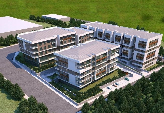 North-facing Apartments in Trabzon with Rich Infrastructure