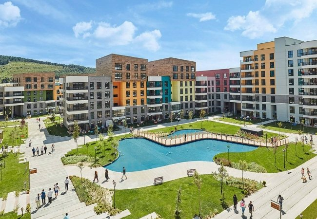 Апартаменты в Санджактепе с Видом на Лес