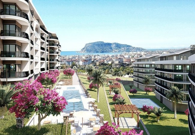 Centrally Located Alanya Apartments in Oba with Sea View