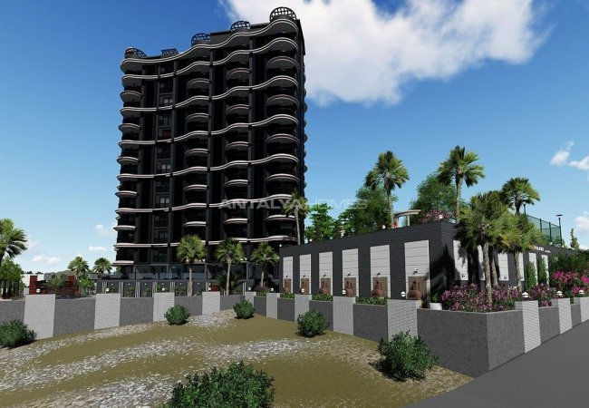 Flats with Excellent Nature and City Views in Alanya