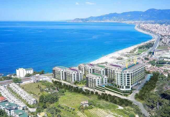 New Alanya Apartments Near the Coastal Road in Kargicak