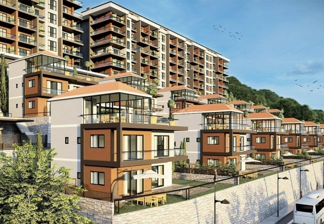 Sea View Villas with Horizontal Architecture in Trabzon