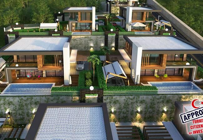 Splendid Detached Villas with Sea View in Kargicak Alanya