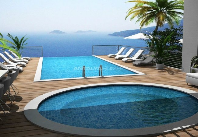 High-quality Detached Villas with Infinity Pool in Kalkan