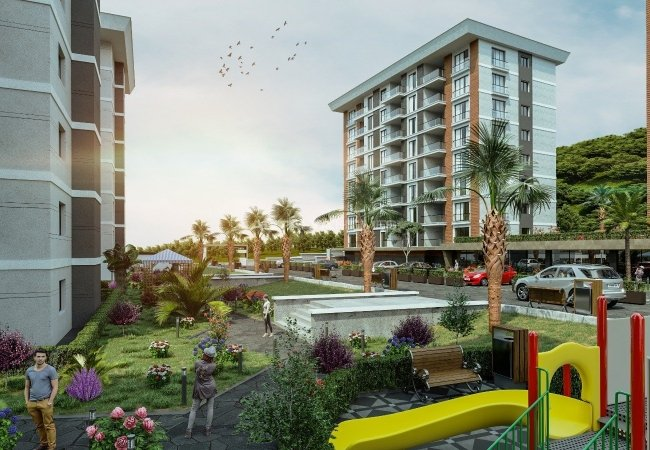 Modern Designed Brand New Apartments in Arsin Trabzon