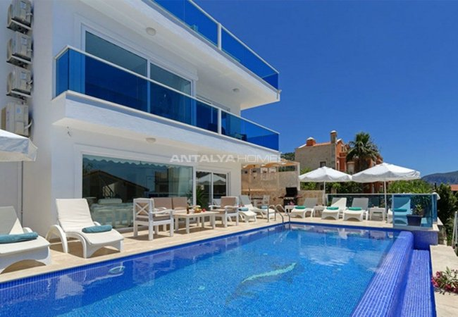 Fantastic Sea View House with a Private Pool in Kalkan