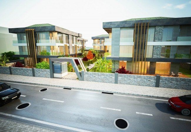 Brand New Luxurious Yalova Flats Nearby Sea Within a Complex