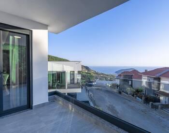Modernt Designade Villor Med Utsikt över Havet Och Slottet I Alanya