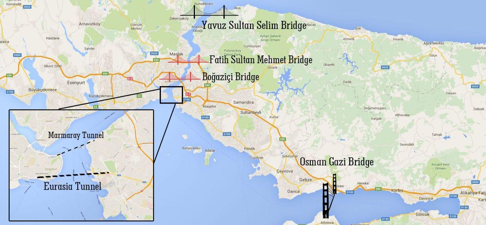 Новый Стамбул Мосты