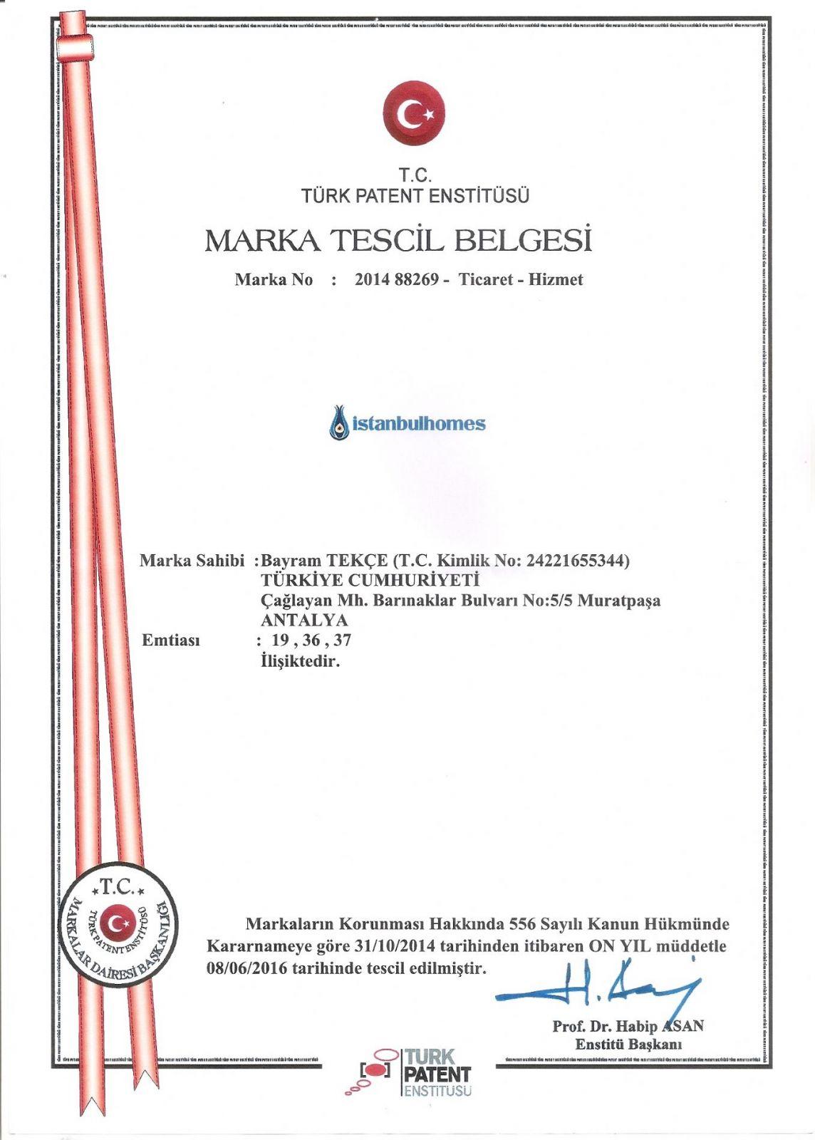 Registre de commerce d'Istanbul Homes